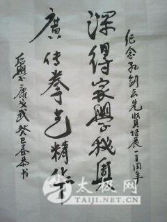 怀念孙剑云老师继承弘扬孙式太极拳 纪念孙剑云宗师诞辰一百周年